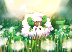 Mega Whimsicott by MizterSiah