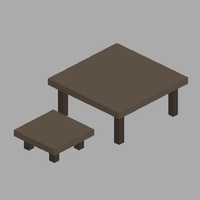 Voxel Chair and Table by M4GR37