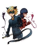 Chat Noir and his Lady(bug) by JazzLassie6020