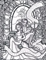 Once Upon A Time - Belle and Rumplestiltskin by TouchedVenus