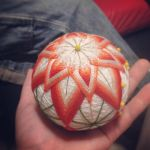 My first temari ball WIP by taeliac