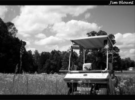 Man, Nature and a Golf Cart by Jim-B