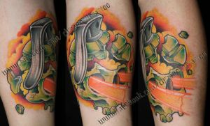 Skull Grenade Watermarked by ChrisNettleTattoo