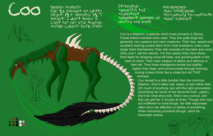 Creature League-Coo reference by PracticallyGeeky