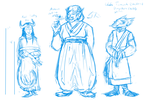 More DnD characters sketches by Teela-B