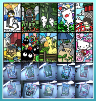 Fanime 2013 Keychains by seenday