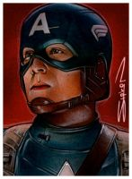 Captain America Sketch Card by RandySiplon