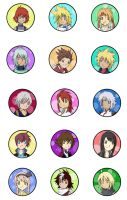 Tales of Heroes Buttons by animepanfan