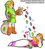 Commission - Simply Link 'n Rupees by JamesmanTheRegenold