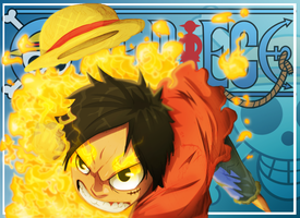 Red Hawk Luffy by Anderson-07