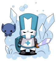 Blue Knight - Castle Crashers by kinokashi