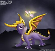Spyro and Sparx by taruto