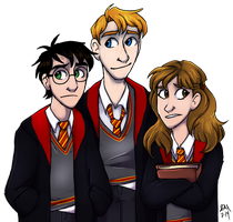 That Wizarding Trio by Blairaptor