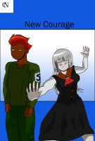 New Courage new arc cover by fighterxaos