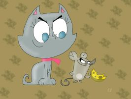 Cat and Mouse by HeinousFlame