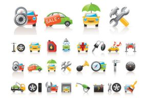 vector car icons collections by FreeIconsFinder