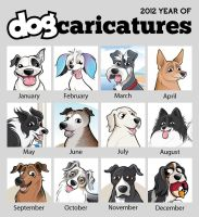 Highlights of Dog Caricatures in 2012 by timmcfarlin