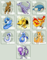 Poke Template 141 - 150 by tazsaints