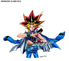 YAMI YUGI-YU-GI-OH (MARKER-COLOR) by MUERTITO69