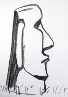 Easter Island head 2 by NeroUrsus
