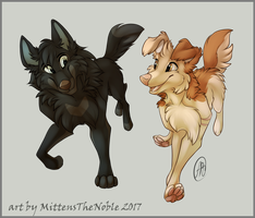 Alu And Namey by MittensTheNoble