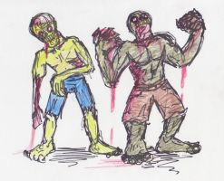 zombie sketches by NerdSmile