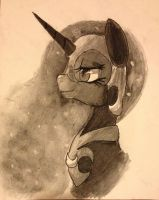 Charcoal Nightmare Moon by MakePastaNot-War
