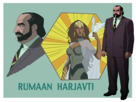 YOUNG JUSTICE: RUMAAN HARJAVTI WALL by Jerome-K-Moore