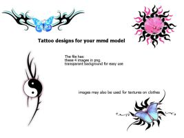 Tattoo Designs For Mmd Models by roosjuh14290