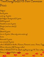 Prices update by VoyagetoDiscover2013