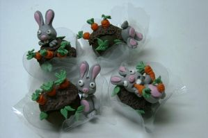 rabbits - truffles by anafuji
