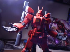 MG AMAZING RED WARRIOR DESCENDS by BlackSpottedZebra