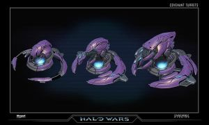 Halo Wars Covenant Turrets by saizarod