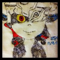 Napkin Art #84 - Midna, the Twilight Princess by PeterParkerPA