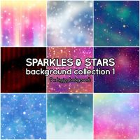 Sparkles and Stars background collection 1 by Suuz-chan