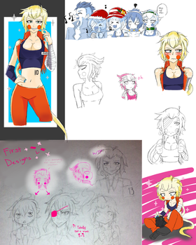 [Nanbaka]: Rei sketches + early concepts by BluuCore