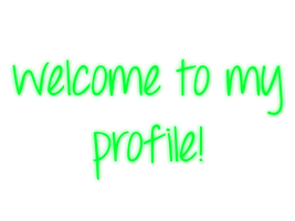Welcome To My Profile - Green - Mossy's Graphics by MossyMyBaby