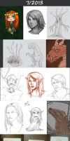Daily doodles 2013-7 by Lysandr-a