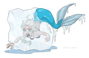 The Frozen Mermaid by AriellaMay