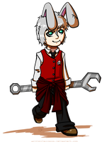 BUNNY WITH A WRENCH by Astronblackmoon