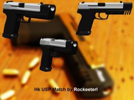 Hk USP Match DL for XNALara by Rockeeterl