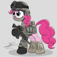 Pinkie Pie- ARMY STRONG by EquestrianMarine