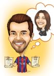 Personalized caricature commission by Soniaka