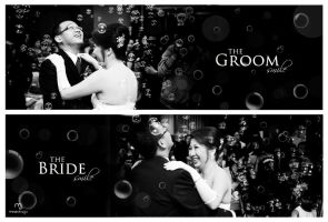 the smile of groom n bride by mikzack