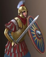 V century roman warrior by Simulyaton