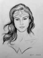 Gal Gadot as Wonder Woman Sketch by MattSimas