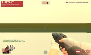 Heavy HUD while playing as a scout by Cowboygineer