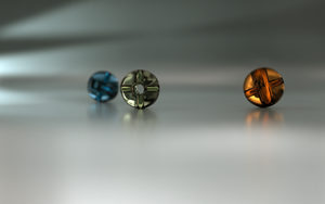 3 glass beads by AnnaPaar