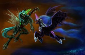 Chrysalis Nightmare by slifertheskydragon