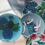 painted plates by vaenaton